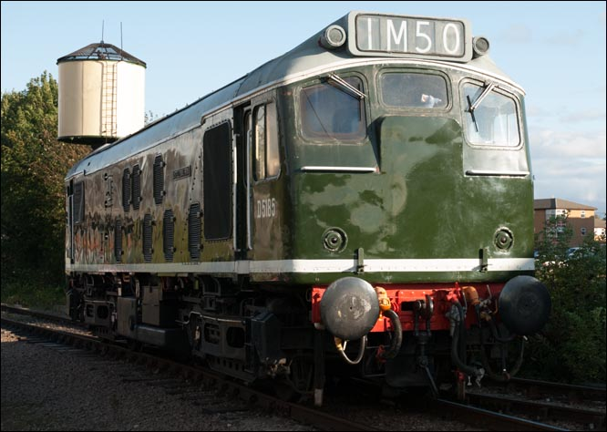 D5185 in the early British Railways green with no yellow on the ends and the headcode panel