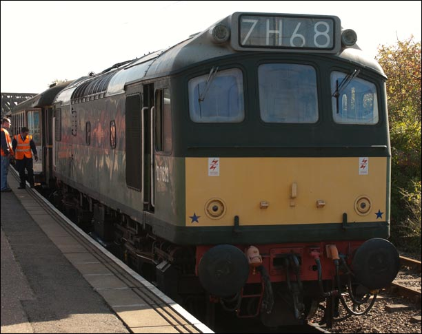 D 7629 at the Peterborogh Nene Valley Railway station on Saturday 29th September 2012 .