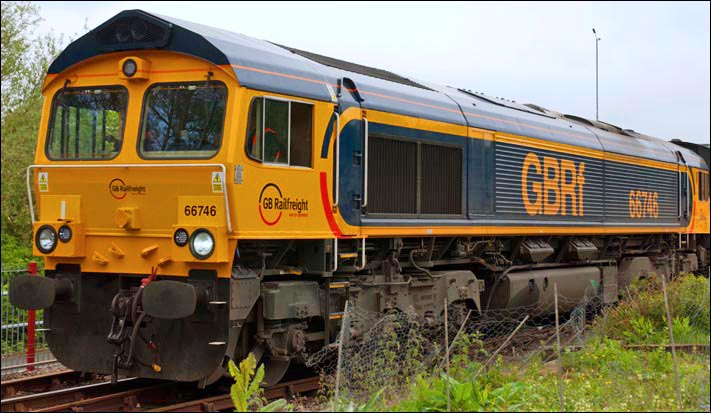 GBRf class 66746 Orton Mere May 2012