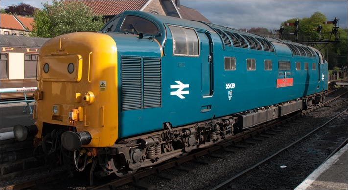 Deltic 55019 Royal Highland Fusilier at the NYMR