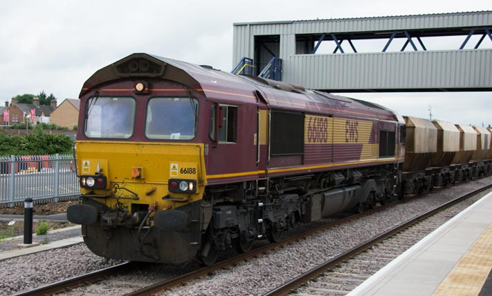 Class 66188 in the new goods avoiding line