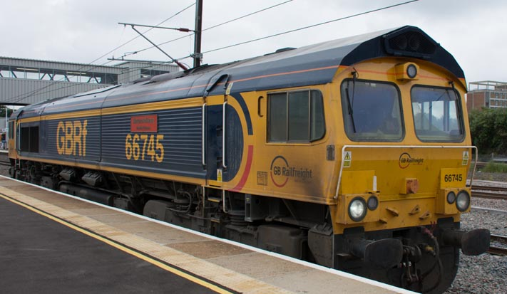 GBRf Class 66745 named  Modern Railways the first 50 years