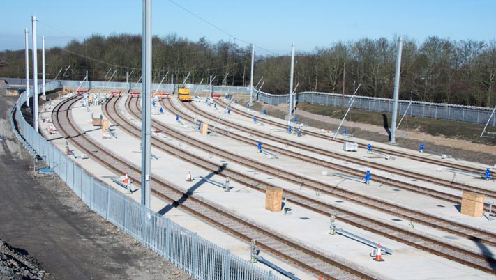 Westwood  Yard new EMU sidings being built in 2015