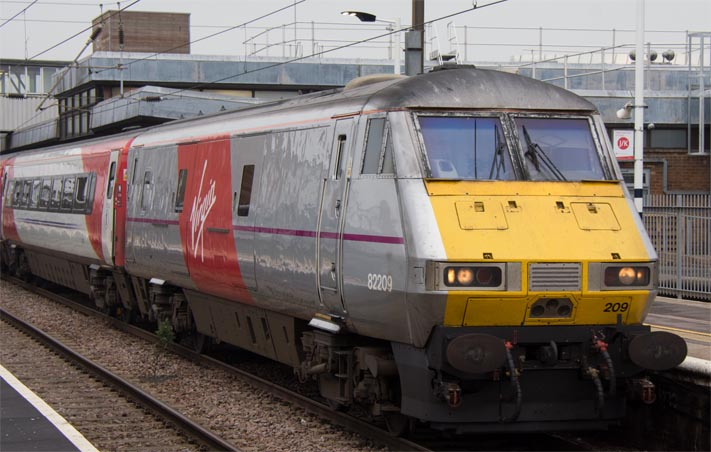 Virgin East Coast DVT still in silver grey with Virgin Logo