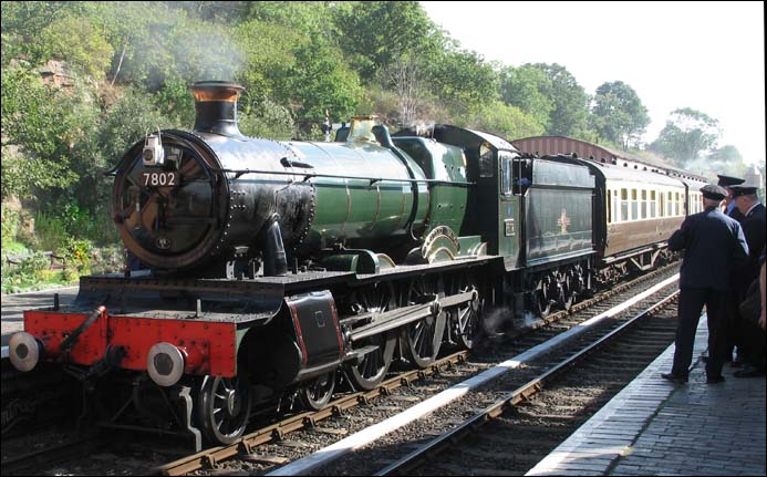 7802 Bradley Manor at the Severn Valley Railway at Bewdley