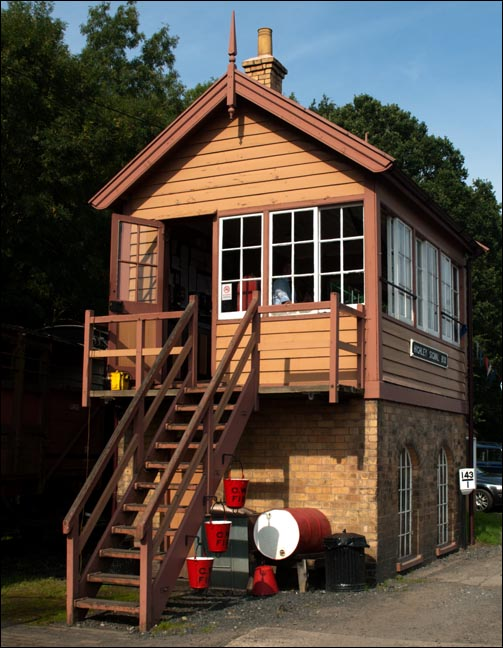 Highley signal Box at the Severn Valley Raiway