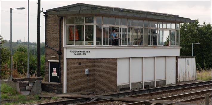 Kidderminster Junction signal box in 2008