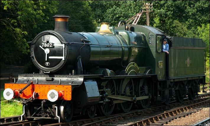 7802 Bradley Manor at the Severn Valley Railway at Highley station