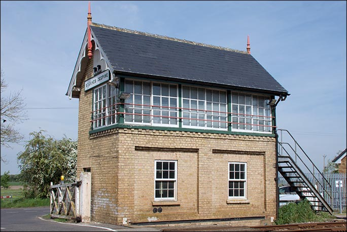 St. James Deeping signal box on the 5th May 2014