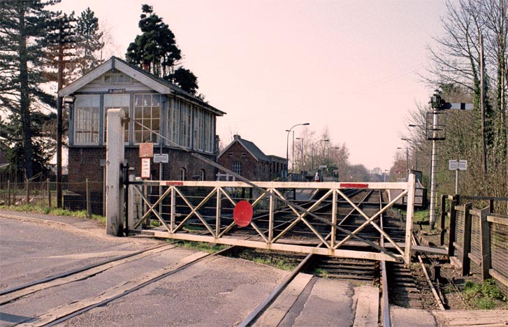 Blankney Signal Box and one of the level crossing gates