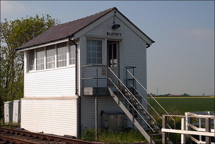 Blotoft signal box after the wood had been changed for UPVC on the 15th of May 2012