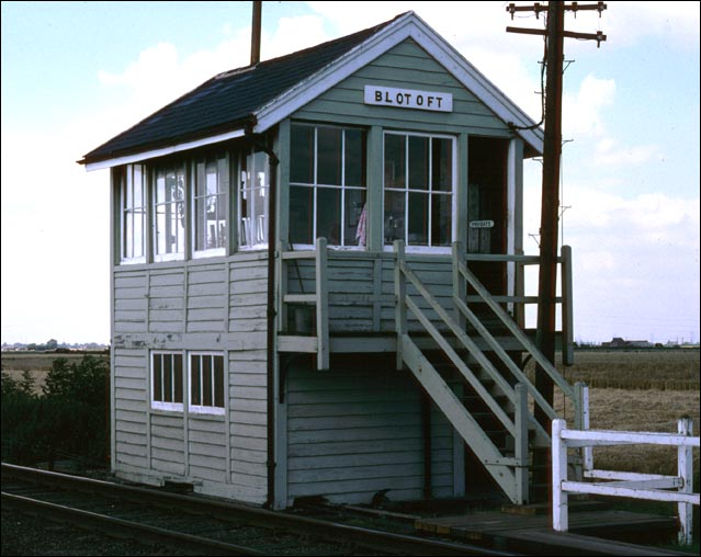 Blotoft signal box in BR days
