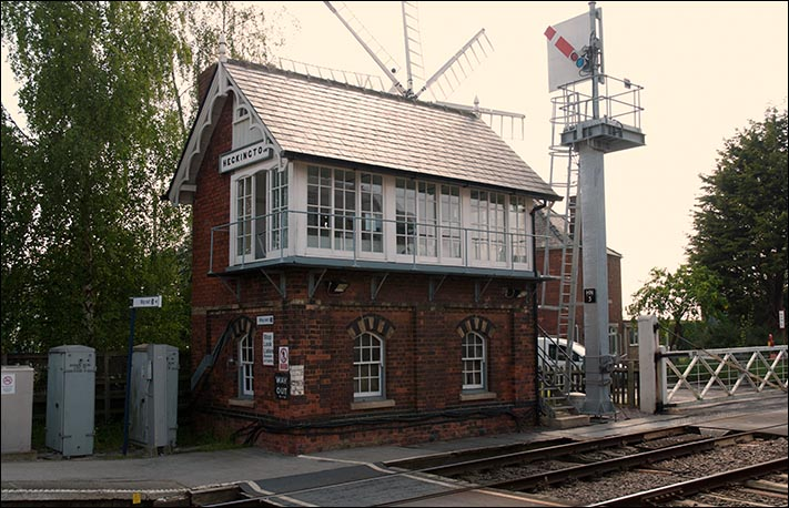 Heckington signal box on the 24th of May 2012 .