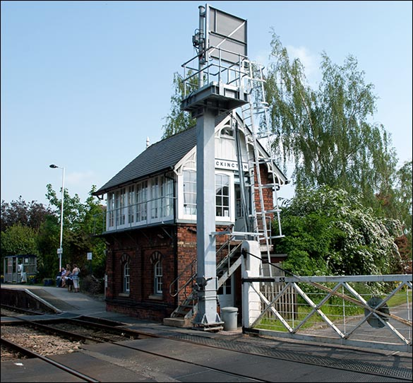 Heckington signal box on the 24th of May 2012 from the level crossing end