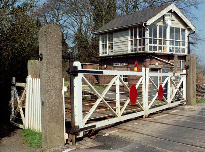 Scopwick Signal Box and its level crossing gates