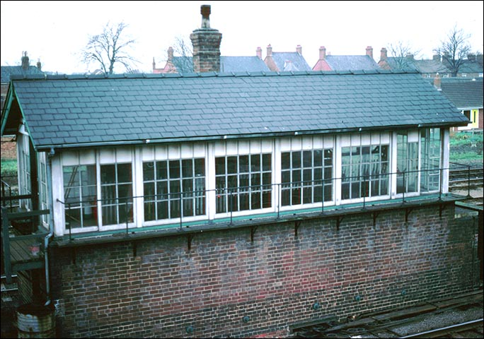 Spalding No.2 signal box when it was open in the 1970s
