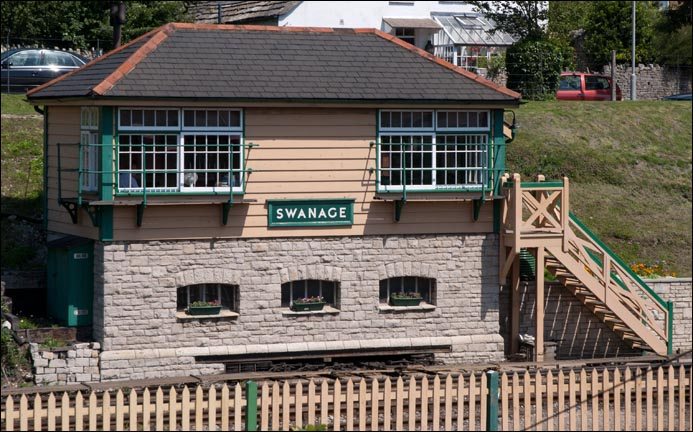 Swanage signal box at Swanage station