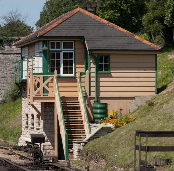 Swanage box is built into the bank