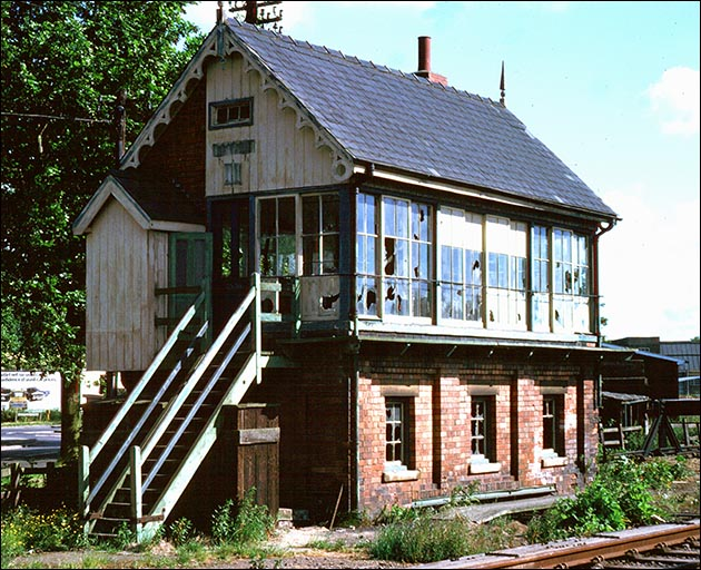 Spalding No.3 signal box after it was closed in the 1970s