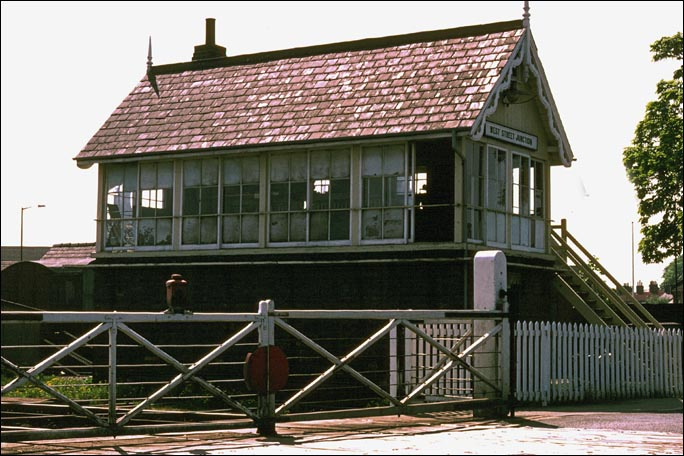 West Street Junction signal box when the level crossing gates were in use and the steps were made of wood
