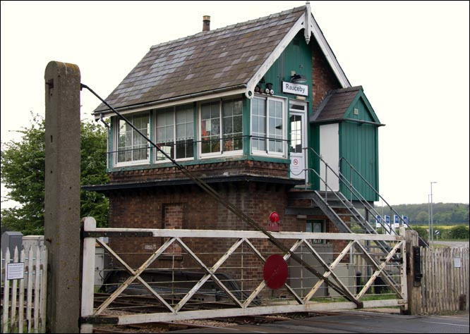 Rauceby signal box on Monday the 5th of May 2014