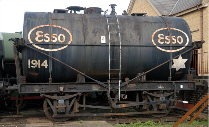 ESSO tank wagon with the number 1914 at the Nene Valleys Wansford station