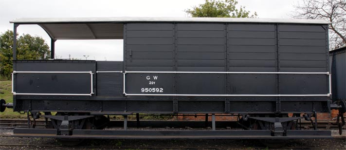 Great Western Railway 20T Toad brake van at the Didcot Railway Centre