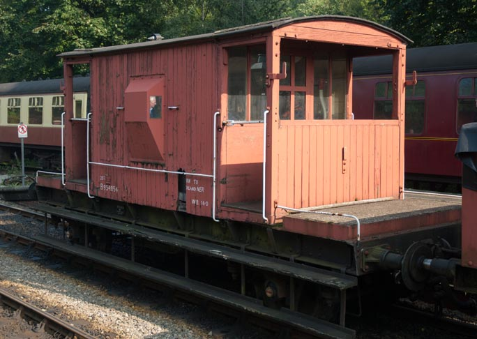 Goods brake van B954854 at Grosmont