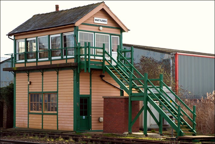 Whittlesea signal box in 2014