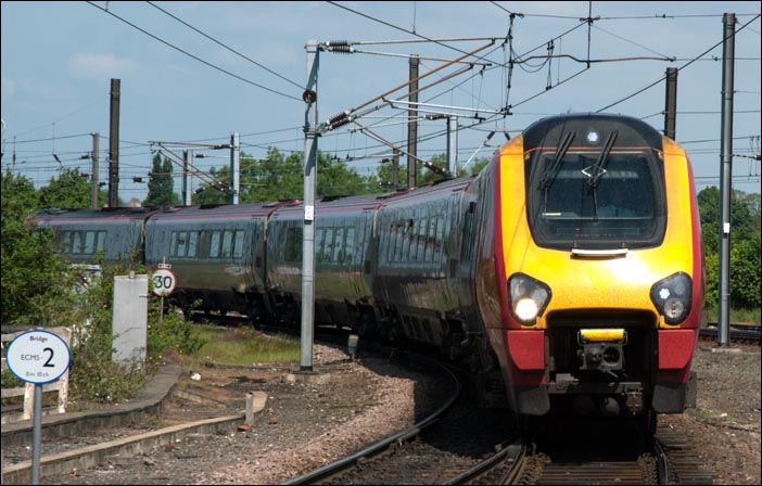 Cross Country train into York in 2008 from the north